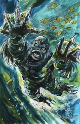 Creature from the Black Lagoon - Color Print