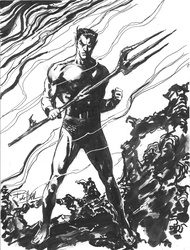 Sub-Mariner - BW Drawing