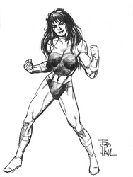 She-Hulk - BW Drawing