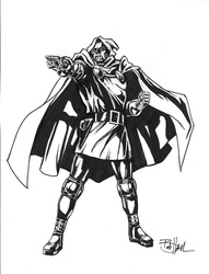 Dr. Doom - BW Drawing